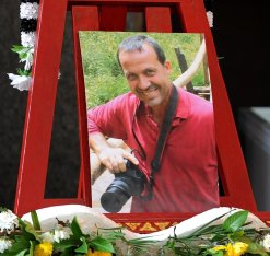 From Fabio Polenghi's funeral in Bangkok on 24 May 2010