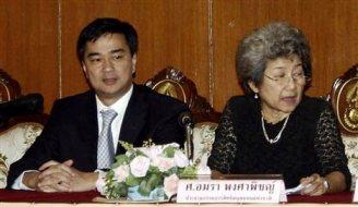 NHRC head Amara Pongsapich and friend: opposing human rights