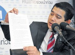 Chavanond being a spokesman (a Bangkok Post photo)