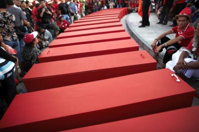 Red shirt coffins