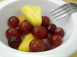 Grapes-pineapples